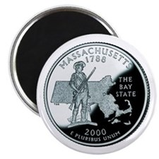 Massachusetts Quarter Magnet