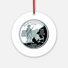 Massachusetts Quarter Ornament (Round)