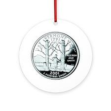 Vermont Quarter Ornament (Round)