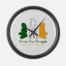 Irish Girls Forever Risque Large Wall Clock