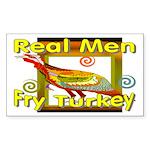 Real Men Rectangle Sticker