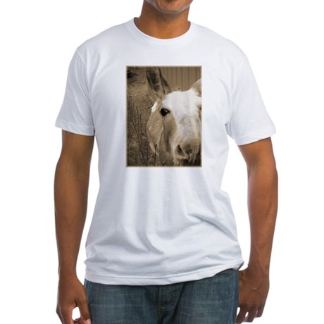CUTEST DONKEY Fitted T-Shirt