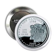 "New Hampshire Quarter 2.25"" Button"