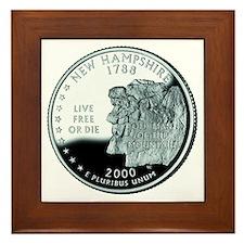 New Hampshire Quarter Framed Tile