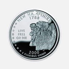 New Hampshire Quarter Ornament (Round)