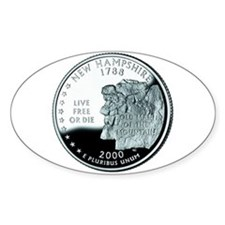 New Hampshire Quarter Oval Decal