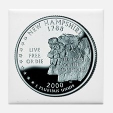New Hampshire Quarter Tile Coaster