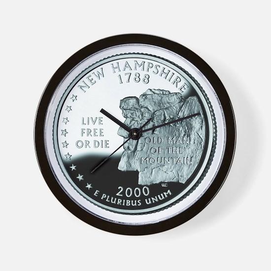 New Hampshire Quarter Wall Clock