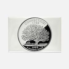 Connecticut Quarter Rectangle Magnet