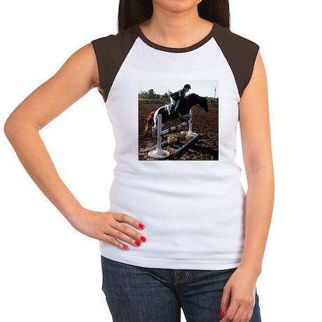 JUMPING Women's Cap Sleeve T-Shirt