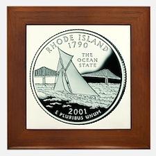 Rhode Island Quarter Framed Tile