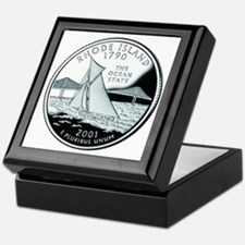 Rhode Island Quarter Keepsake Box
