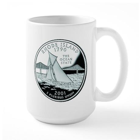 Rhode Island Quarter Large Mug