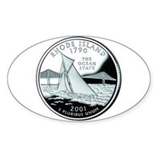 Rhode Island Quarter Oval Decal