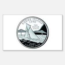 Rhode Island Quarter Rectangle Decal