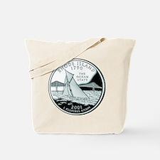 Rhode Island Quarter Tote Bag