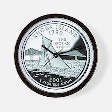 Rhode Island Quarter Wall Clock