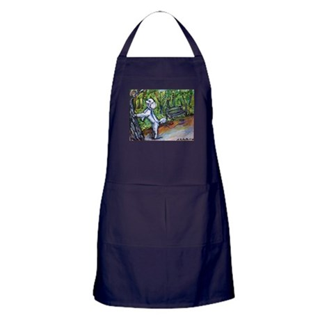 Poodle squirrel chaser Apron (dark)