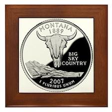 Montana Quarter Framed Tile