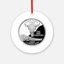 Montana Quarter Ornament (Round)