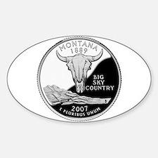 Montana Quarter Oval Bumper Stickers