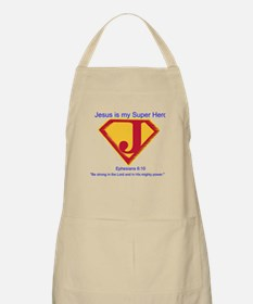 Jesus is My Super Hero Apron