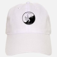 Wyoming Quarter Baseball Baseball Cap