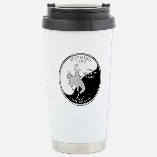 Wyoming Quarter Stainless Steel Travel Mug