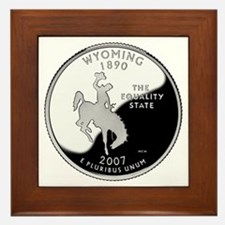 Wyoming Quarter Framed Tile