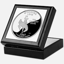 Wyoming Quarter Keepsake Box