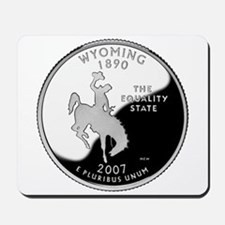 Wyoming Quarter Mousepad