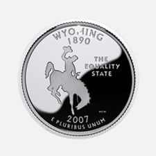 Wyoming Quarter Ornament (Round)