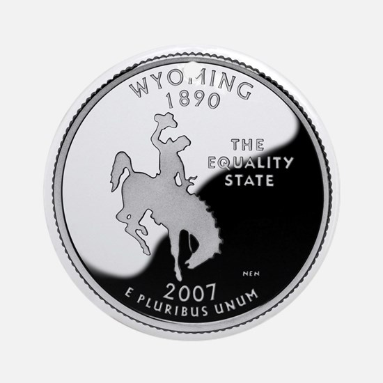 Wyoming Quarter Ornament (Round)