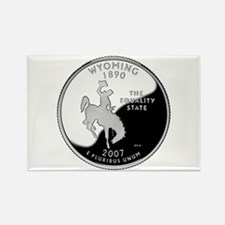 Wyoming Quarter Rectangle Magnet