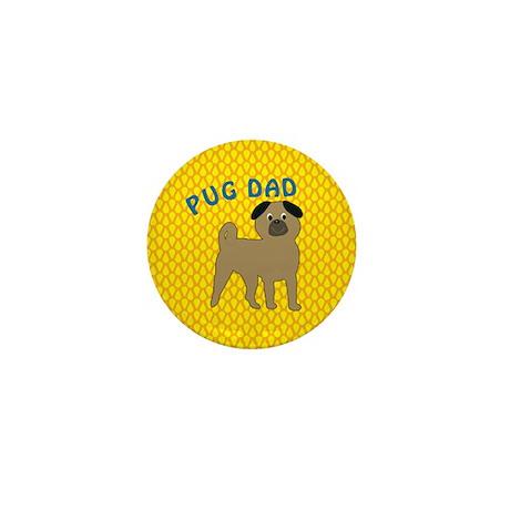 Pug Dog Dad Mini Button (100 pack)