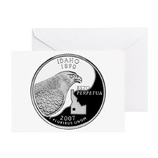 Idaho Quarter Greeting Card