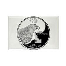 Idaho Quarter Rectangle Magnet (10 pack)
