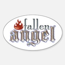 Fallen Angel Oval Decal