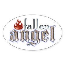 Fallen Angel Oval Sticker (10 pk)