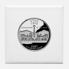 Utah Quarter Tile Coaster