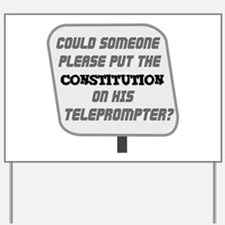 Constitution on TOTUS Yard Sign