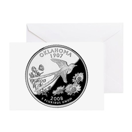 Oklahoma Quarter Greeting Card