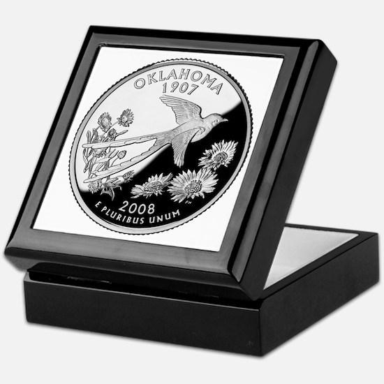 Oklahoma Quarter Keepsake Box