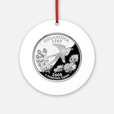 Oklahoma Quarter Ornament (Round)