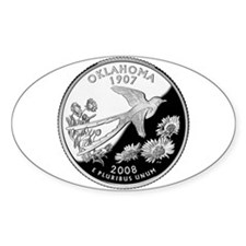 Oklahoma Quarter Oval Decal