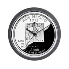 New Mexico Quarter Wall Clock