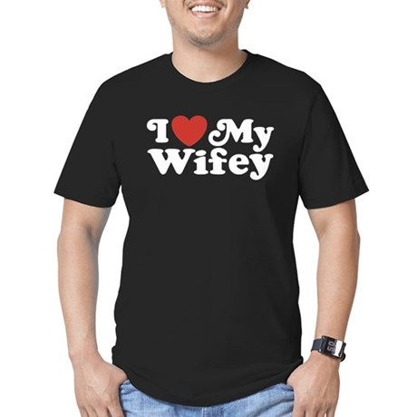 I Love My Wifey Men's Fitted T-Shirt (dark)