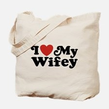 I Love My Wifey Tote Bag