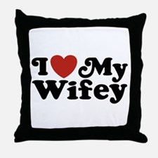 I Love My Wifey Throw Pillow