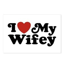 I Love My Wifey Postcards (Package of 8)